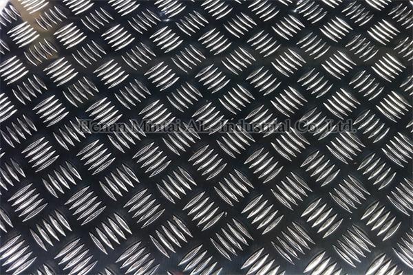 5000 Series 5 Bar Aluminum Tread Plate Alloy 5005 5052